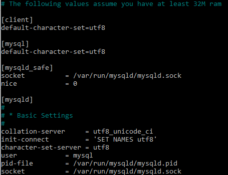 Configurer utf-8 pour la création de bdd