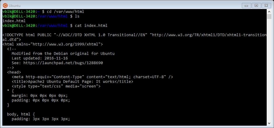 Default Page Apache